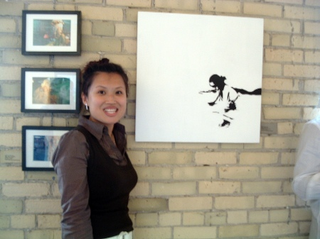 Wynne Leung Artist - Gallery Opening Nelvana Art Show